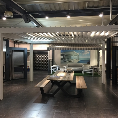 BIOCLIMATIC PERGOLA AGAVA – showroom model. AUSTRIA. Production, supply.