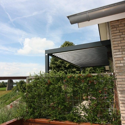 BIOCLIMATIC PERGOLA AGAVA – custom solution in cooperation with distributer. NETHERLANDS. Production & supply.