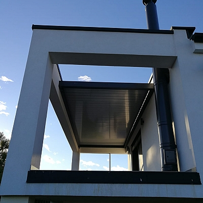 BIOCLIMATIC PERGOLA AGAVA 160/28 – custom solution for the end customer. Production, supply, installation.