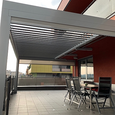 BIOCLIMATIC PERGOLA AGAVA 160/28 – custom solution for the end customer. Production, supply and installation.