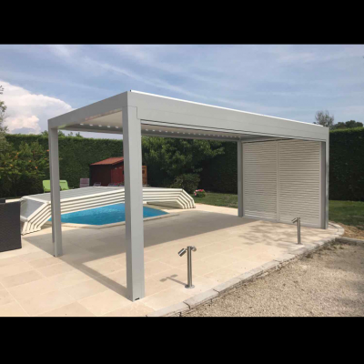 BIOCLIMATIC PERGOLA AGAVA – custom solution in cooperation with distributer. FRANCE. Production & supply.