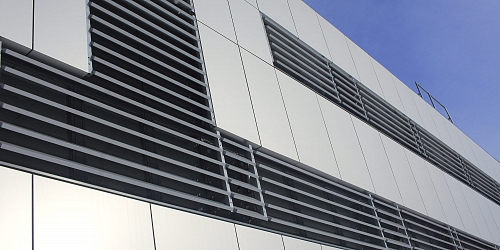 New Soltec facade with Sunbreakers